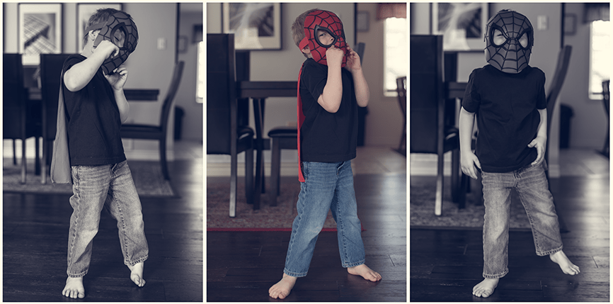 Ottawa family photographer Charlotte Northrope Mothers Day Mom and Child sessions spiderman superhero lifestyle