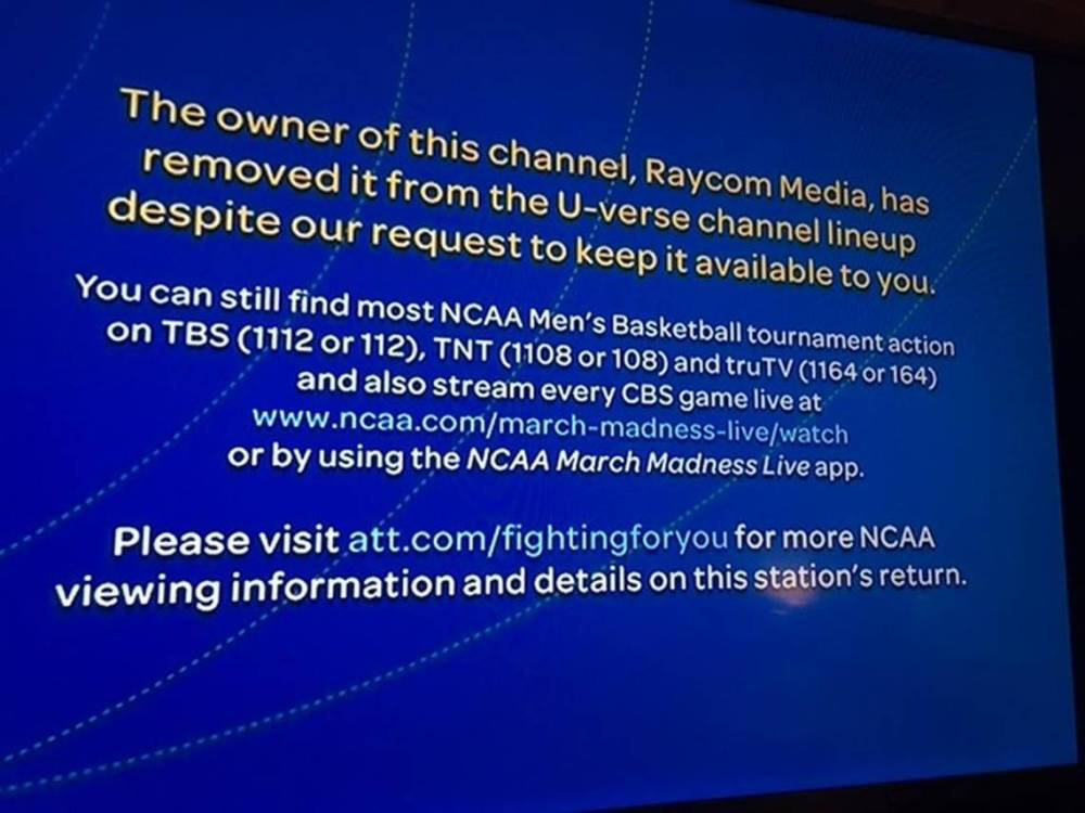 medium resolution of raycom says no to u verse demand to end blackout for unc game charlotte observer