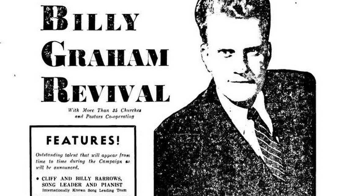 Billy Graham revival crusade in Charlotte, NC in 1947