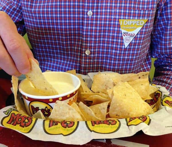 moes free queso day