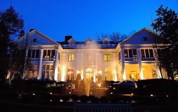 Duke Mansion blue night sky