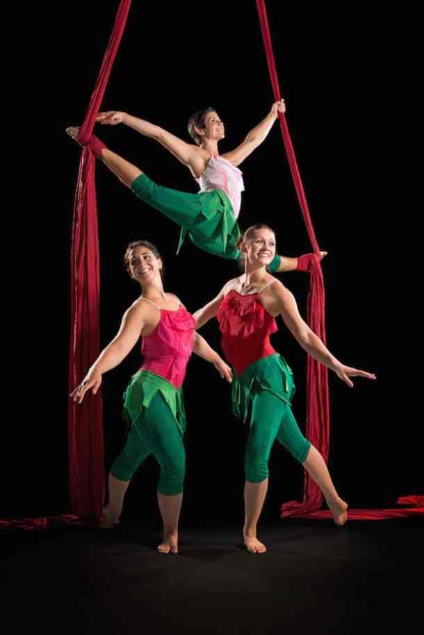 Clara's Trip: A Nutcracker Story, presented by aerial dance company Carolina Calouche & Co.