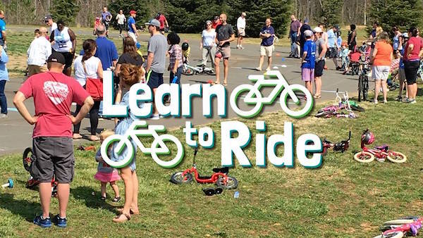 Kids (and adults) can learn to ride bikes at the free Learn to Ride event