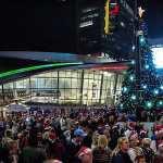 nascar hall of fame tree lighting
