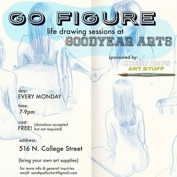 Free figure drawing sessions at Goodyear Arts - Charlotte On