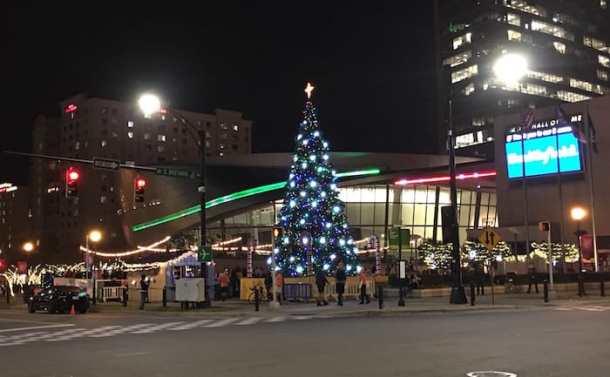 nascar hall of fame christmas tree charlotte