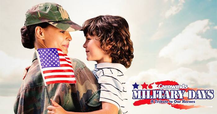 Carowinds: free admission for military members June 29-July 7 (and a
