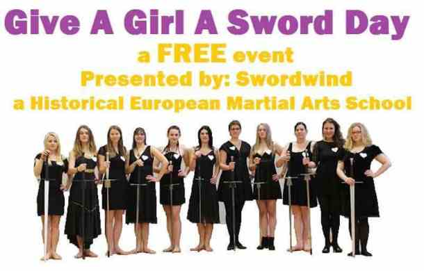 Give a Girl a Sword Day: free sword fighting workshop for
