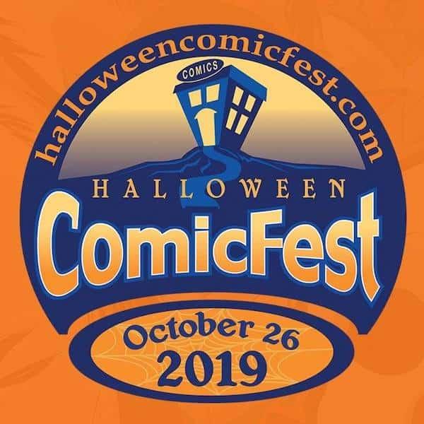 Halloween comic fest poster, october 26th 2019