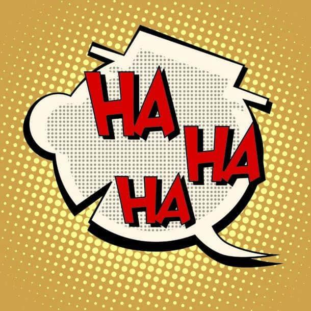 Comic Bubble Head Laughter Ha Ha Ha Pop Art Retro Style Humor And Comedy The Illustration In The Book Silhouette Head Of A Clown Comic Bubble Head