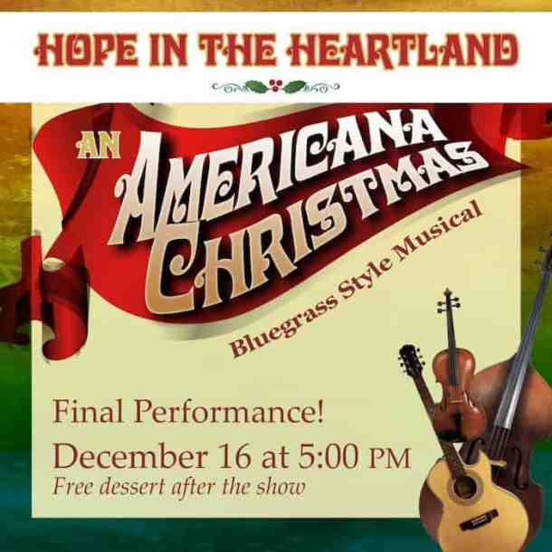 Christmas In The Heartland.Rescheduled Hope In The Heartland An Americana Christmas