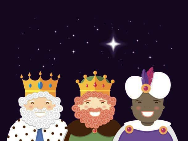 The Three Kings With Christmas Star Epiphany Day