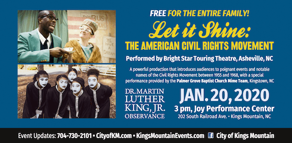 """""""Let it Shine: the American Civil Rights Movement""""--free performance in Kings Mountain"""
