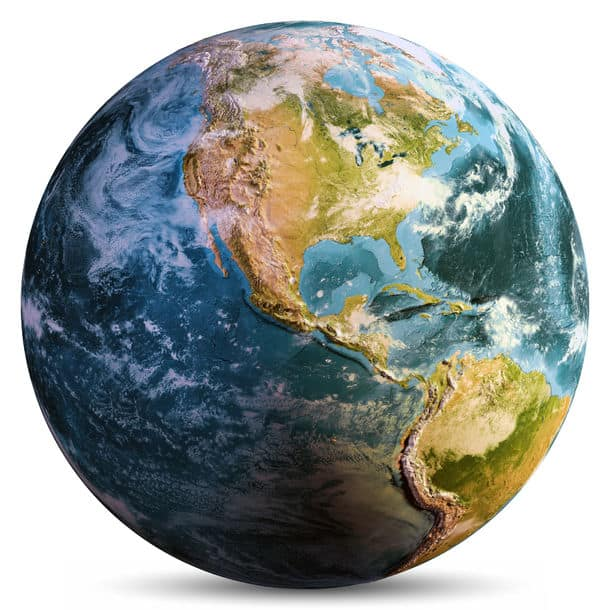 Planet Earth Isolated Elements Of This Image Furnished By Nasa 3D Rendering Planet Earth Isolated