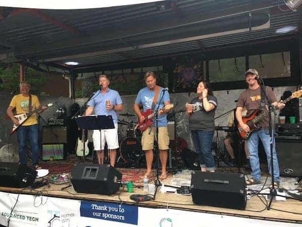 Band on stage for Mayfest Music Festival at Jack Beagle's NoDa