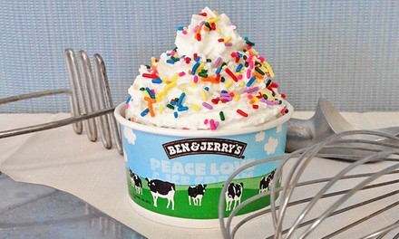 $15 for Three vouchers, Each Good for $10 Worth of Ice Cream & Frozen Treats Ben & Jerry's ($30 Value)