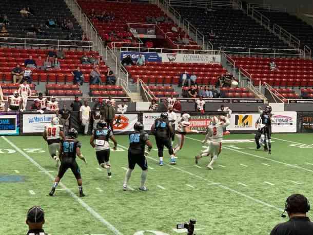 charlotte thunder arena football quarterback passing