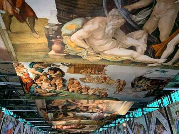 Sistine Chapel Exhibition ceiling in Charlotte