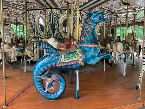 Seahorse on carousel