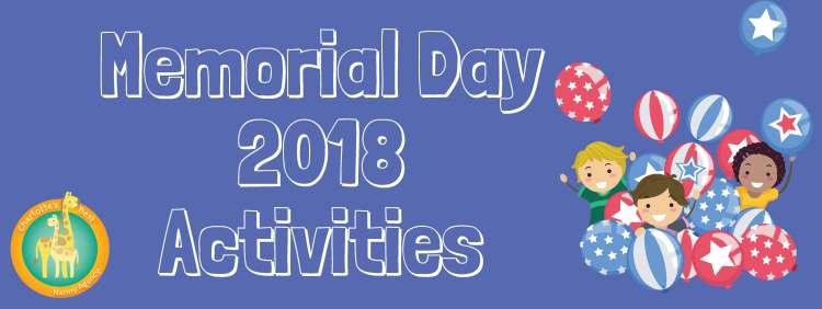 Memorial Day 2018 Activities