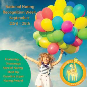 National Nanny Recognition Week Septmber 23rd - 29th