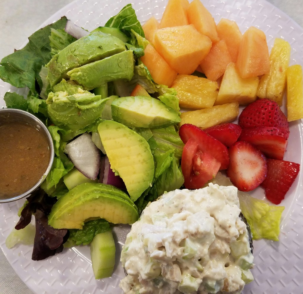 Chicken Salad Stuffed Avocado, Price Center Tea Room, San Marcos