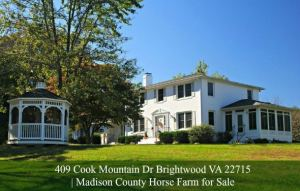 409 Cook Mountain Dr Brightwood VA 22715 | Madison County Horse Farm for Sale
