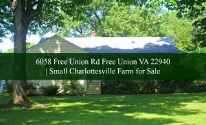 Horse Farm for Sale in Charlottesville VA