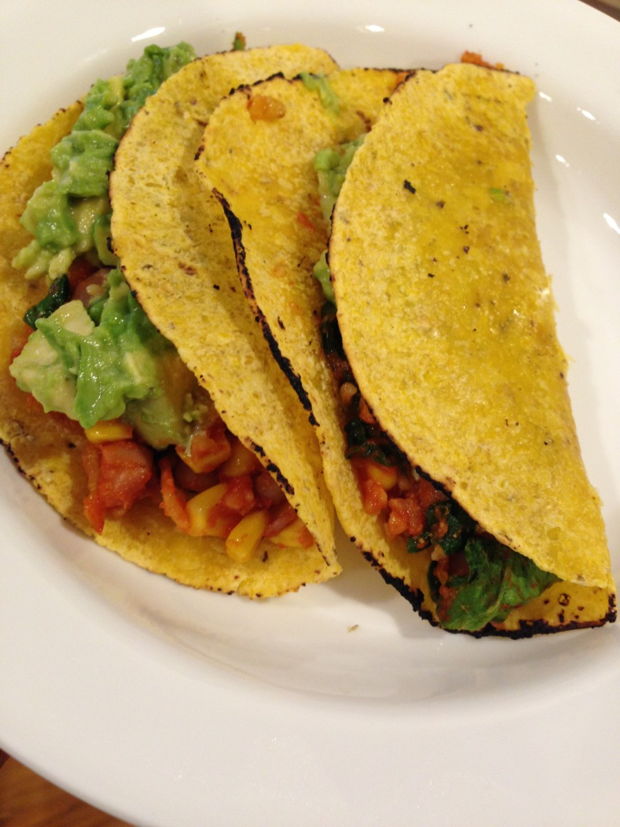 Taco Tuesday: 20 Minute Spinach Pinto Tacos With Avocado Lime Salsa