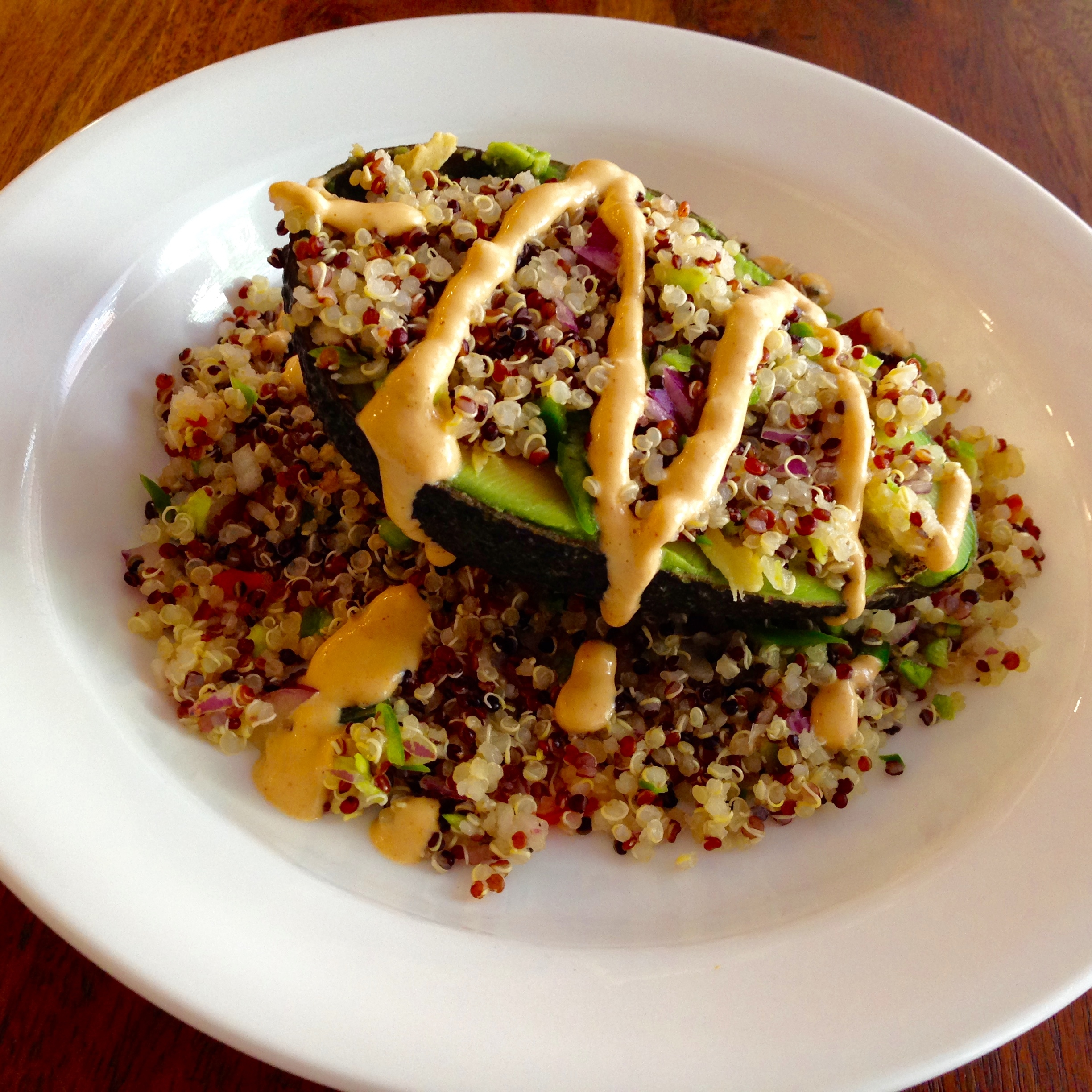 Stuffed avocados with chili cashew cream inspired by viva chicken i preferred to keep my avocado half in the skin to make it easier to scoop out every bite but viva chicken takes it out forumfinder Image collections