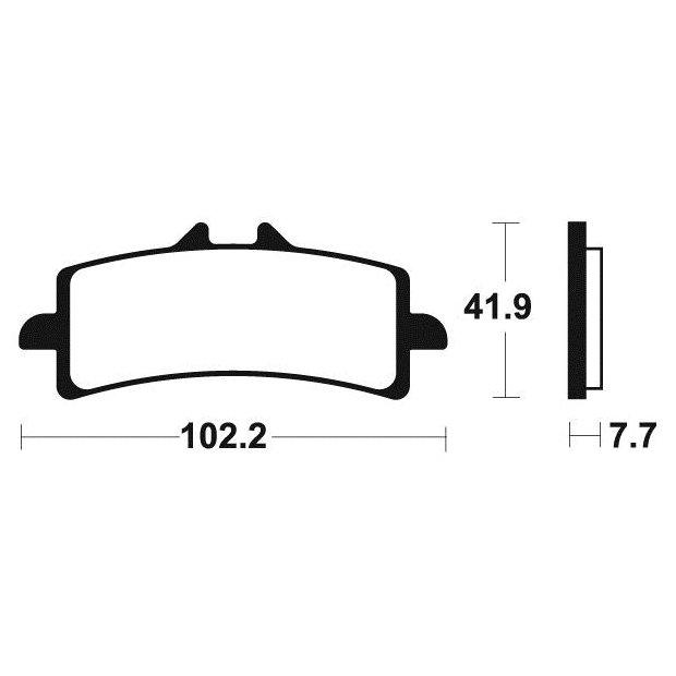 plaquettes de frein tecnium mcr341 suzuki gsx-r 600 11-18