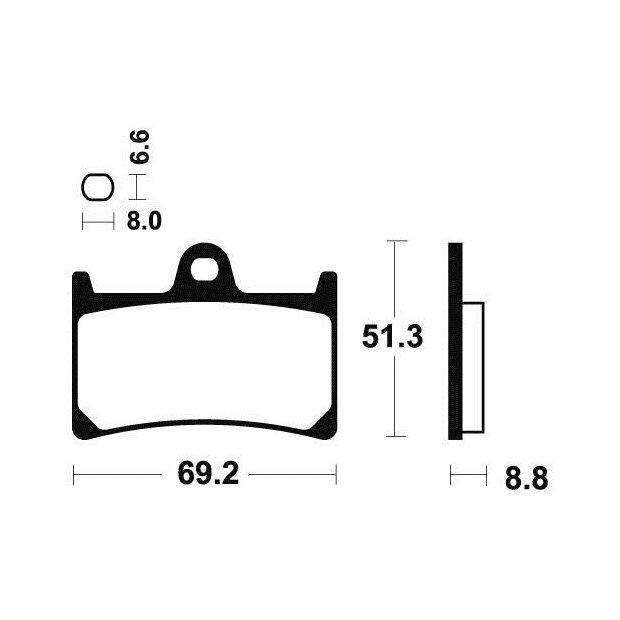 plaquettes de frein tecnium mf134 yamaha yzf600r