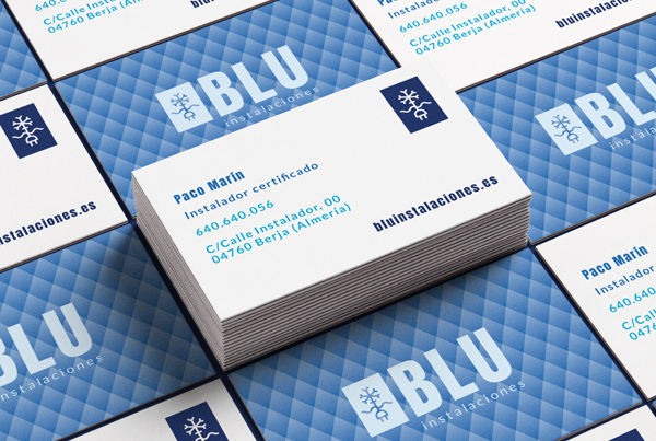 Blu Instalaciones | diseño de logo