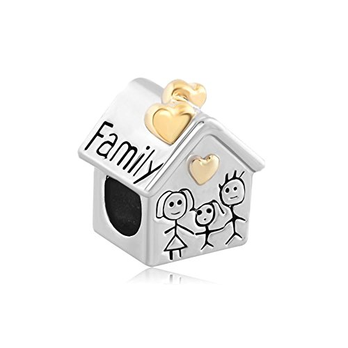Sterling Silver 7 4.5mm Charm Bracelet With Attached 3D Wooden Birdhouse Charm