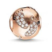 Charm Central Premium Rose Gold Tone Baby Feet Charm for Charm Bracelets - Fits Pandora Bracelets