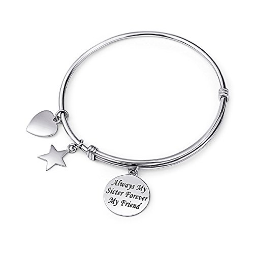 Everbling BFF Best Friends Forever Together Friendship 925 Sterling Silver Bead Fits European Charm Bracelet