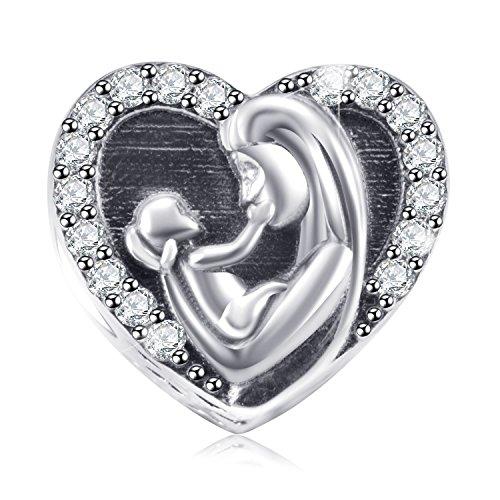 Sterling Silver Baby Rattle Charm Bracelet .925 Gift Shower NOS