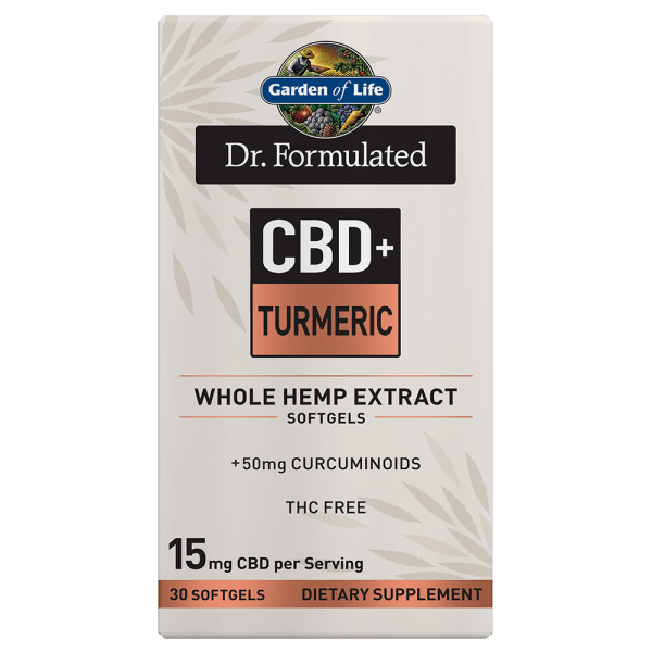 Garden of Life CBD+ Inflammatory Response Turmeric Softgels