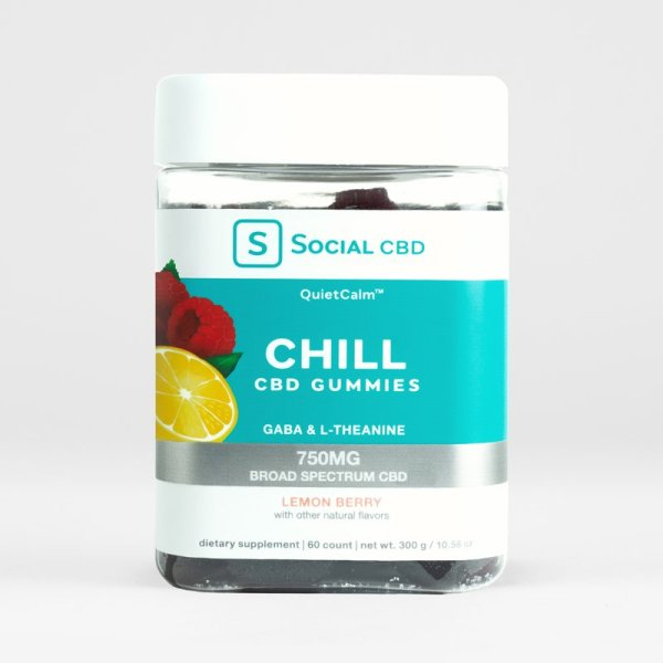 Social Chill Lemon Berry CBD Gummies for Relaxation