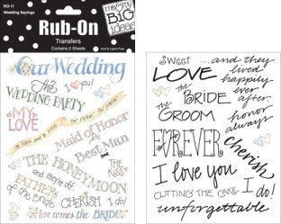 Charmed Cards & Crafts Misc Romance Stickers and Rub-Ons
