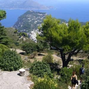 Panorama di Capri vista dal Monte Solaro