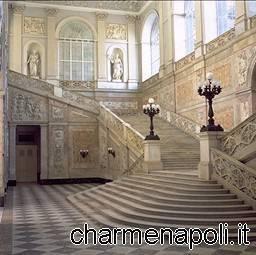 Lo scalone di entrate del  Palazzo Reale