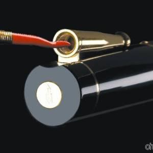 Cappuccio di una delle penne Delta con cornetto scaramantico