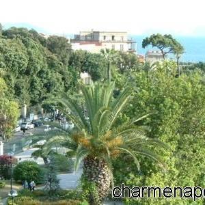 Giardini villa comunale di Chiaja dall'alto