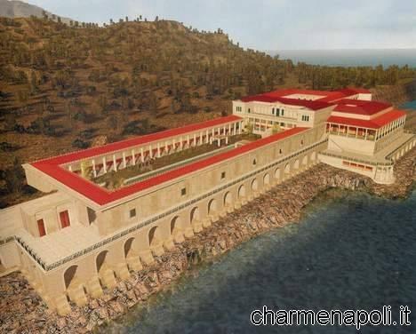 La Villa dei papiri come appariva prima dell'eruzione del Vesuvio
