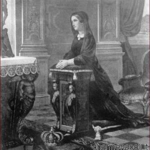 Maria Cristina di Savoia in atteggiamento di preghiera