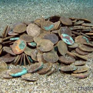 Una manciata di antiche monete