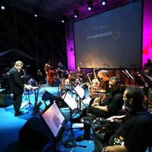 Artisti sul palco del jazz festival