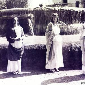 La Fonte Salutare a Pompei in una vecchia foto