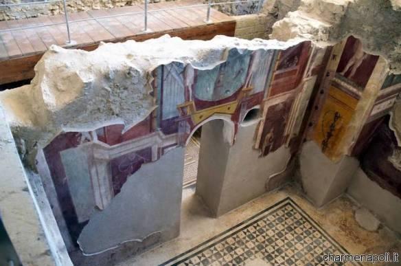 Pompei, Casa del Criptoportico particolare mura